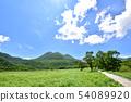 구주 長者原에서 三俣山 1745m 여뀌하라 습원 자연 연구로 여름 색의 구주 연산 오이타 현 코노에 마치 54089920