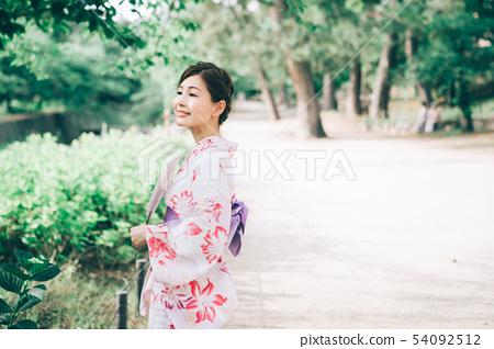 유카타 여성 54092512