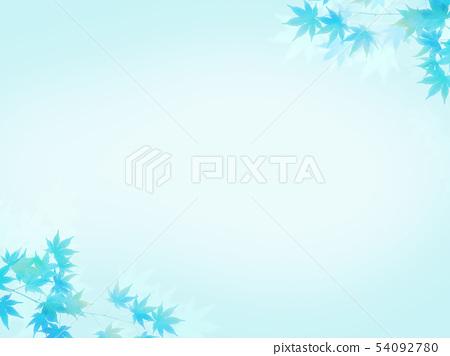 배경 - 일본 - 일본식 - 일본식 디자인 - 종이 - 단풍 - 여름 - 하늘색 54092780
