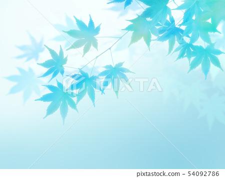 배경 - 일본 - 일본식 - 일본식 디자인 - 종이 - 단풍 - 여름 - 하늘색 54092786