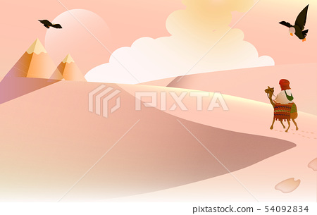 Hayakami's mysterious desert sky background Relief (Available cloth/Kaiho/Netpage/Name piece/Plane/Denjo) 54092834