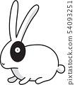 兔子形象 54093251