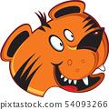 老虎形象 54093266