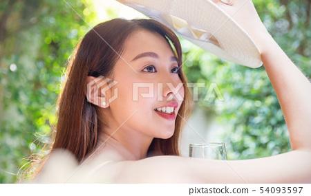 여성 여자 여행 리조트 54093597