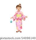 유카타 소녀 일러스트 54096140
