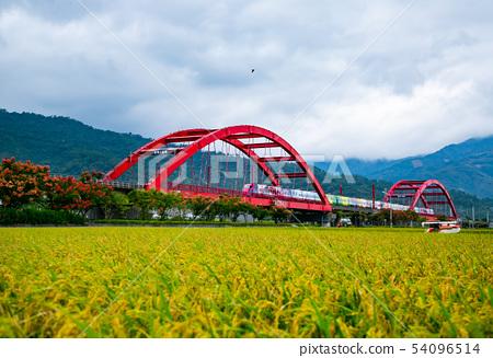 台灣花蓮玉里火車風光Asia Taiwan Hualien scenery 54096514