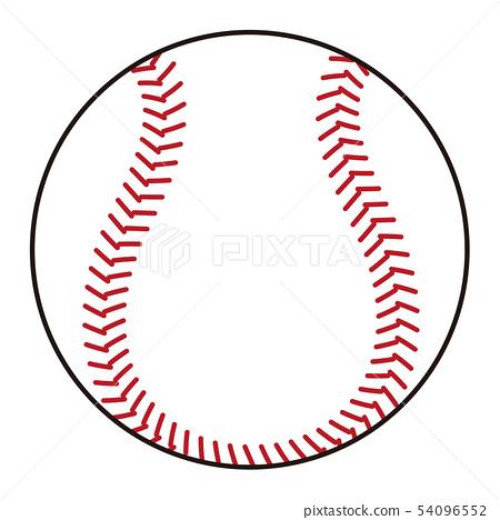 야구 공 Baseball ball 일러스트 54096552