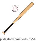 Baseball bat and ball Baseball bat Baseball ball illustration 54096556