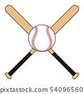 Baseball bat and ball Baseball bat Baseball ball illustration 54096560