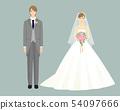 新娘和新郎在排隊 54097666