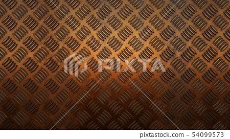 Floor metal Cooper background, 3D rendering 54099573
