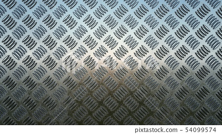 Floor metal Aluminium background, 3D rendering 54099574