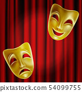 Theatrical masks. 54099755