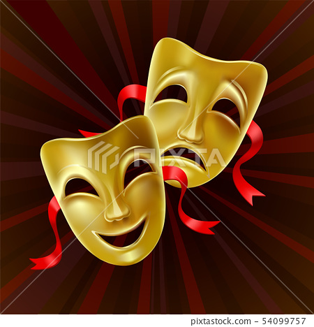 Theatrical masks. 54099757