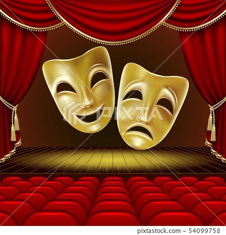 Theatrical masks. 54099758
