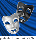 Theatrical masks. 54099760