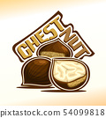 Vector logo for chestnut 54099818