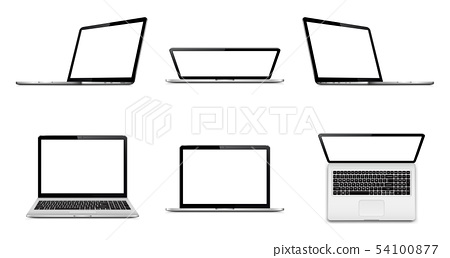Laptop set with empty space on white background 54100877