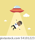 African businessman abducted by UFO. 54101223