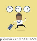 African businessman goes on a business trip abroad 54101226