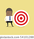 African businessman with big target. 54101288