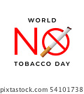 World no tobacco day sign. 54101738