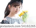 แนวของทานตะวันช่อดอกไม้ผู้หญิง 54102265