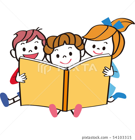 책을 읽는 아이들 54103315