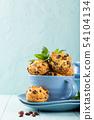 Fresh homemade delicious raisins muffins 54104134