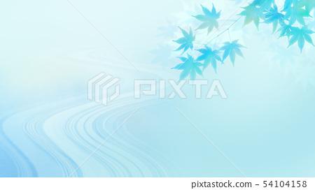 배경 - 일본 - 일본식 - 일본식 디자인 - 종이 - 단풍 - 청류 - 여름 - 하늘색 54104158