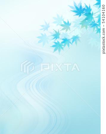 배경 - 일본 - 일본식 - 일본식 디자인 - 종이 - 단풍 - 청류 - 여름 - 하늘색 54104160