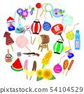 Summer festival illustration set 02 54104529