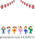여름 축제 아이들 초롱 54104531