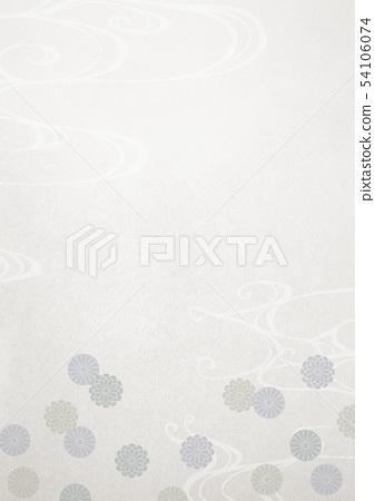 日本紙 - 菊花 - 武術 - 香火葬禮 54106074