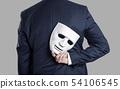 Business fraud concept. Businessman hide the mask 54106545