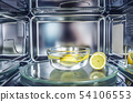 A method of cleaning in a microwave oven with 54106553