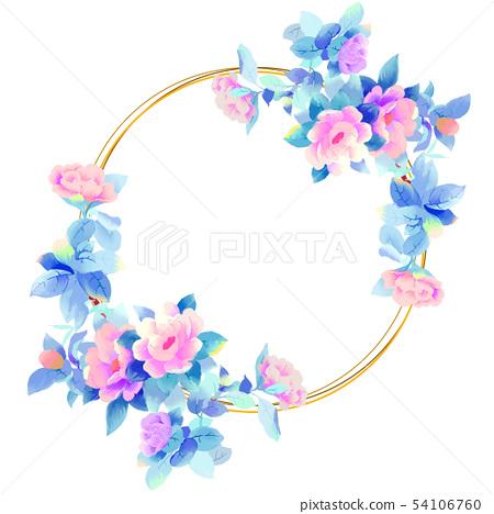 優雅的美麗的水彩玫瑰花牡丹花花卉 54106760