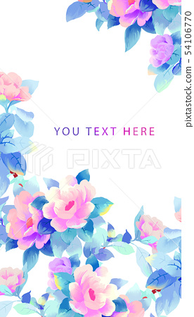 優雅的美麗的水彩玫瑰花牡丹花花卉 54106770