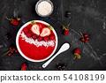 Smoothie bowls. Healthy breakfast bowl Vegan food. 54108199