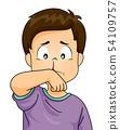 Kid Boy Nosebleed Illustration 54109757