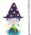 Kid Boy Science Potion Illustration 54109814