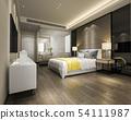 modern luxury yellow bedroom suite and bathroom 54111987