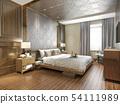 beautiful luxury bedroom suite in hotel with tv 54111989