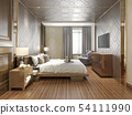 beautiful luxury bedroom suite in hotel with tv 54111990