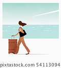 A woman to travel 54113094