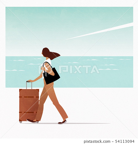 여행하는 여성 54113094