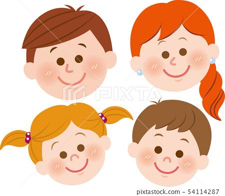 4 인 가족 얼굴 54114287