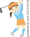 골프를하는 여성 54114319
