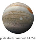 Full disk of planet Jupiter globe from space 54114754