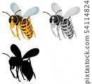 Set of bee on white background 54114824